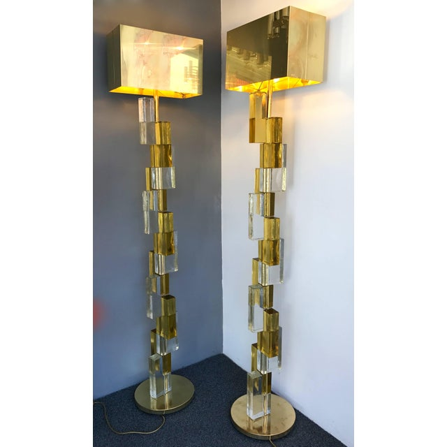Not Yet Made - Made To Order Contemporary Floor Lamps Cubic Murano Glass. Italy For Sale - Image 5 of 13