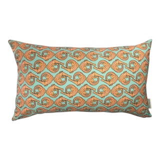 South African Handmade Linen Lumbar Pillow For Sale
