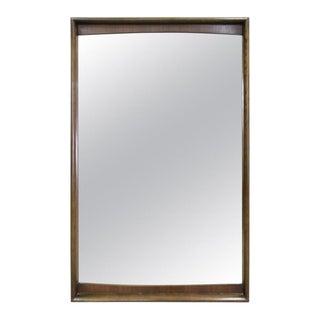 Mid-Century Modern Kagan Style Large Walnut Mirror United Furniture For Sale