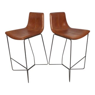 Modern Stools With Leather Upholstery For Sale
