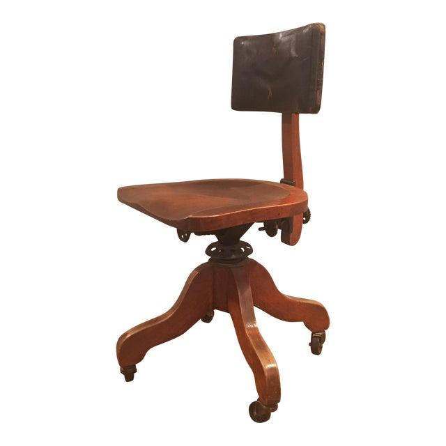 Bankers Office Chair For Sale - 1920's Industrial Sikes Co. Bankers Office Chair Chairish