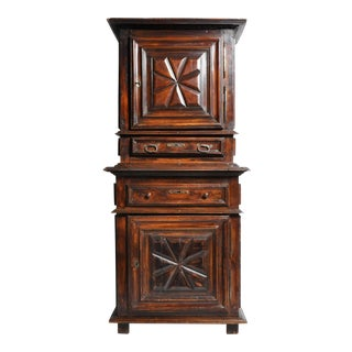 "French Louis XIII Style ""A Deux Corps"" Walnut Armoire For Sale"