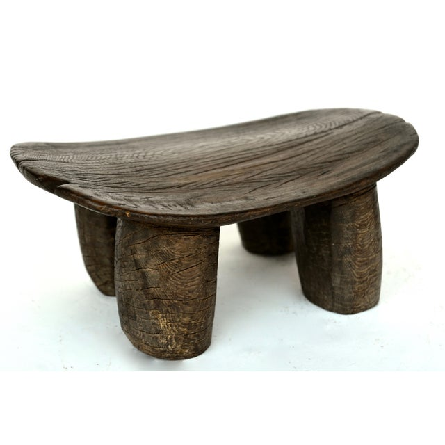 Wood African Lobi Wood Stool For Sale - Image 7 of 7