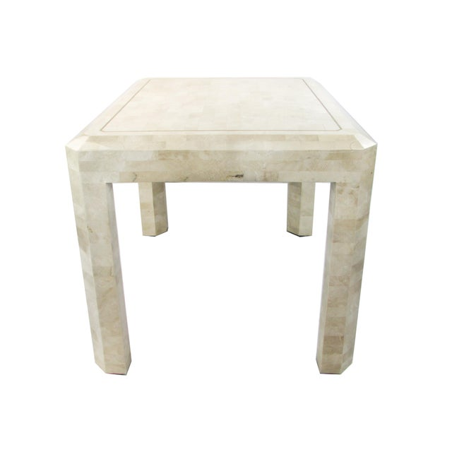 Tessellated Limestone Side Tables, Pair - Image 3 of 7