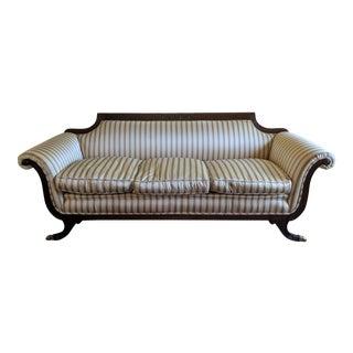 Antique Mahogany Regency Scrolled Arm Sofa