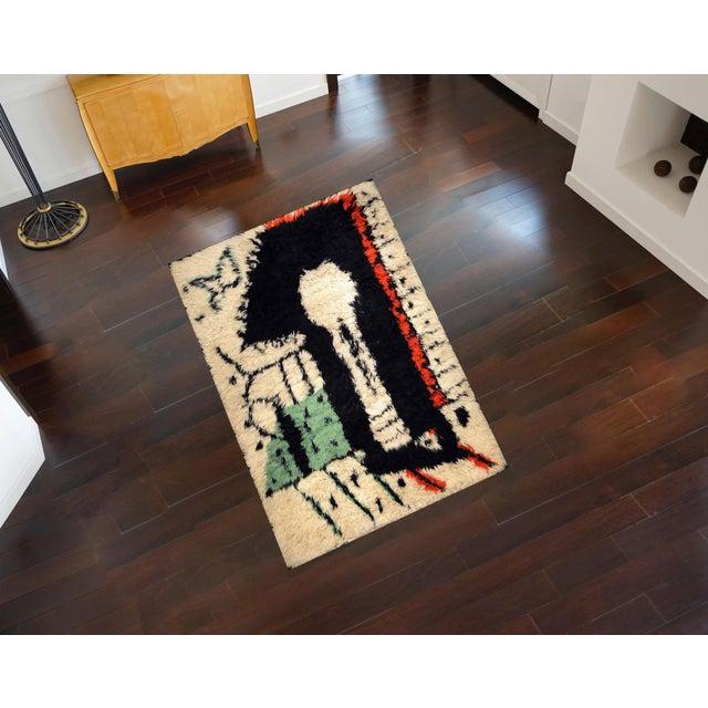 """Contemporary Rare Rug Designed by Pablo Picasso, """"La Serrure,"""" Circa 1955 For Sale - Image 3 of 4"""