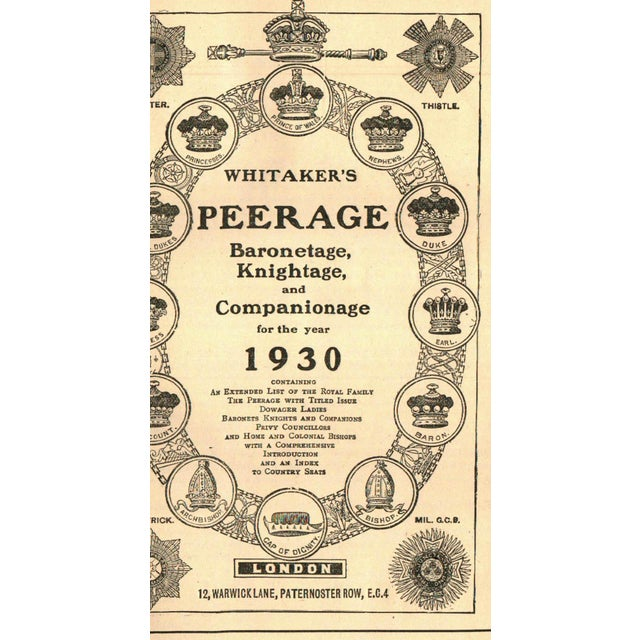 """Whitaker's Knightage & Companionage"" - Image 2 of 2"