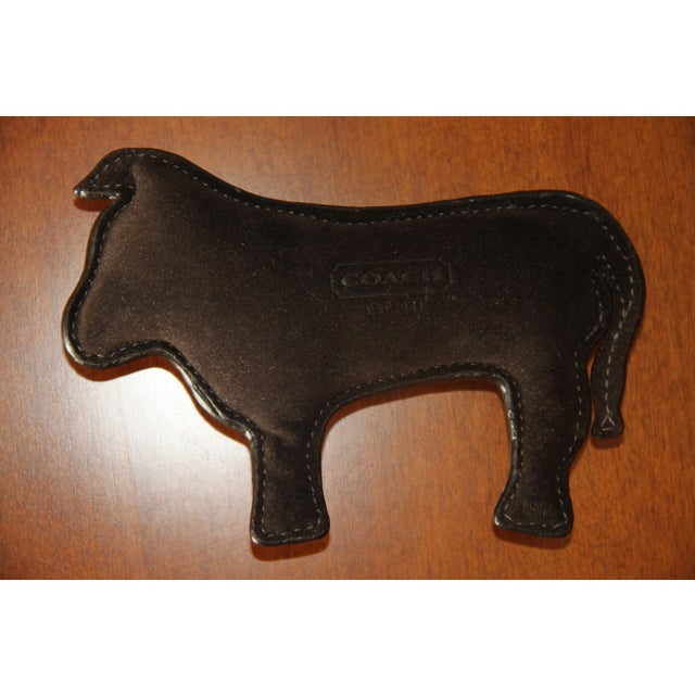 Modern Coach Signature Leather-Embossed Paperweight (Year of the Ox) For Sale - Image 3 of 7