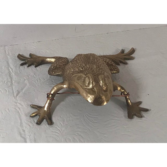 Vintage Brass Frog Figurine For Sale - Image 9 of 9