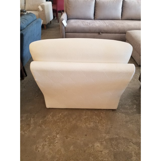2010s Cream Lounge Slipper Chair For Sale - Image 5 of 10