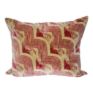 "Luigi Bevilacqua of Milan Art Deco ""Cascade"" Rosey Pink Velvet Pillow For Sale"