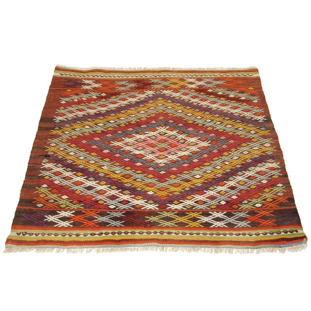 Vintage Turkish Kilim - 3'2 X 3'7 - Image 2 of 3