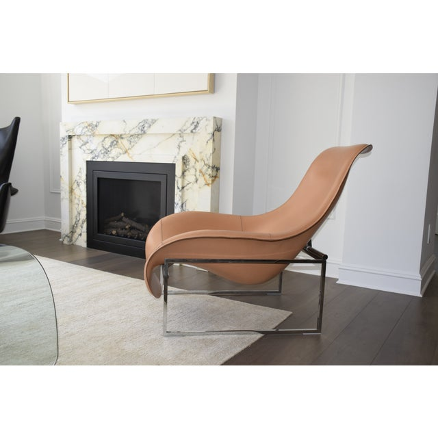B&b Italia Leather Mart Chair For Sale - Image 11 of 12