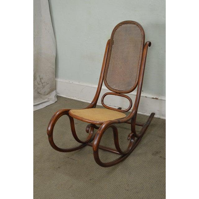 Thonet Vintage Antique Bentwood Rocker Rocking Chair For Sale In  Philadelphia - Image 6 of 12 - Thonet Vintage Antique Bentwood Rocker Rocking Chair Chairish