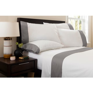 Monte Carlo Banded Flat Sheet Queen - Graphite Preview