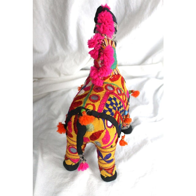 Mid 20th Century 1950s Boho Chic Pink Accent Rajasthani Horse For Sale - Image 5 of 6