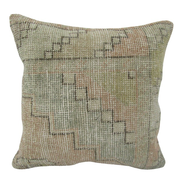 Turkish Worn Vintage Decorative Pillow Cover For Sale