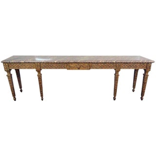 French Regency Style Marble-Top Console Table