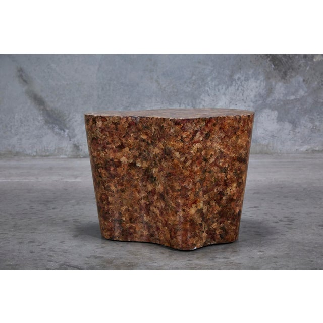 """Plastic 1990s Contemporary Freeform """"Clouds"""" Side Table With Petal Shell Inlay For Sale - Image 7 of 13"""