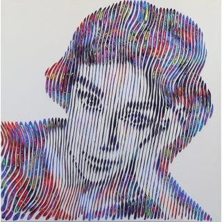 """Virginie Schroeder """"Timeless Audrey Hepburn"""" Original Painting For Sale"""