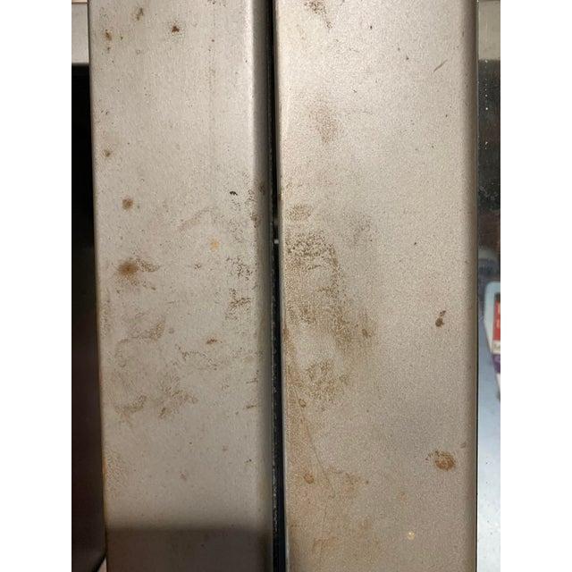 Metal Vintage Industrial Metal Display Cabinet For Sale - Image 7 of 12