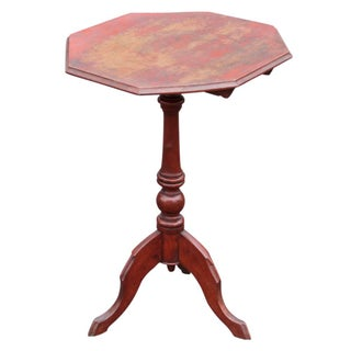 Antique Octogonal Tripod Tilt Top Table For Sale