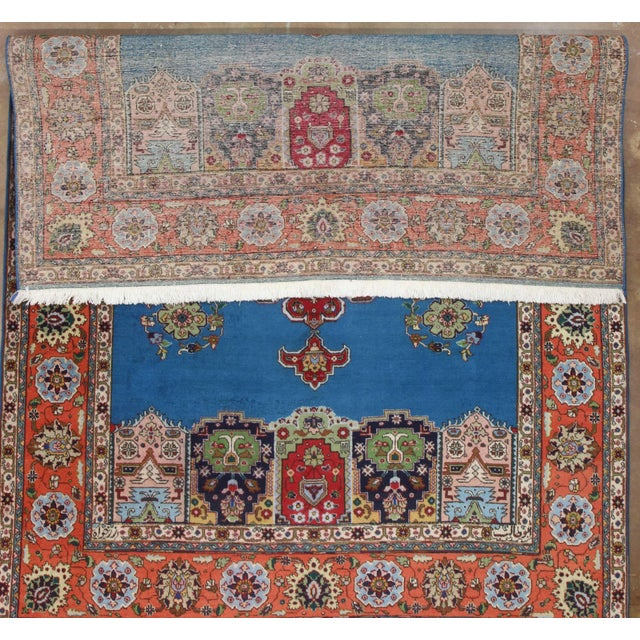 """Hand Knotted Wool Persian Tabriz Rug - 7'2"""" X 10' - Image 3 of 4"""