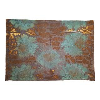 Flowers 6 Silk Velvet Pillow Cover For Sale