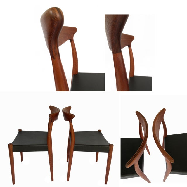 1960's Danish Mid-Century Modern Arne Hovmand-Olsen Model Mk 310 Teak Dining Chairs - Set of 6 For Sale - Image 9 of 13