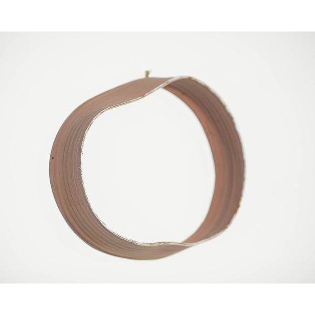 """Brick Red Yokky Wong """"Cycles"""" Series Wall-Mounted Porcelain Ring Sculpture #3 For Sale - Image 8 of 10"""