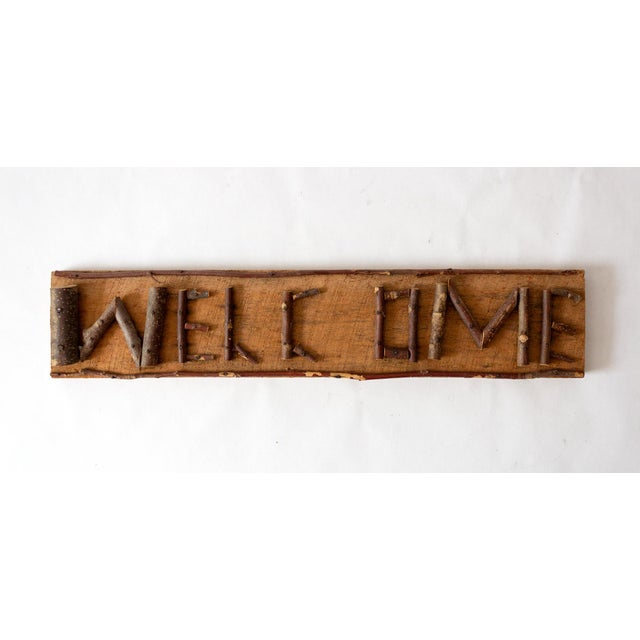 Rustic Twig Welcome Sign For Sale In Dallas - Image 6 of 6