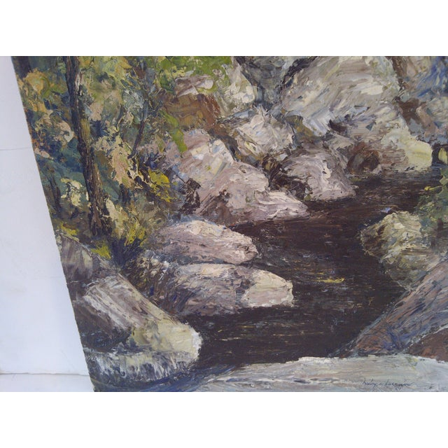 """""""The Brook"""" Painting by Ruby Schoernam For Sale - Image 5 of 7"""