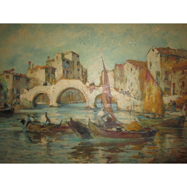 Traditional Venice Oil Painting For Sale - Image 3 of 4