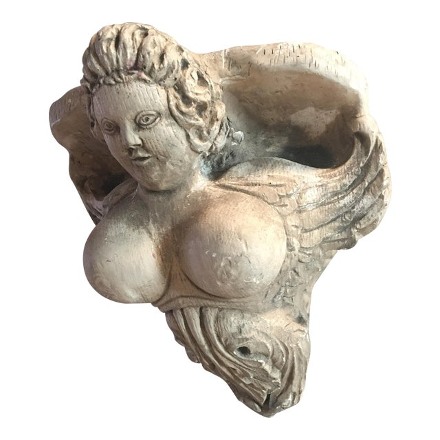 Hand Carved Buxom Figurehead Wall Mount - Image 1 of 9