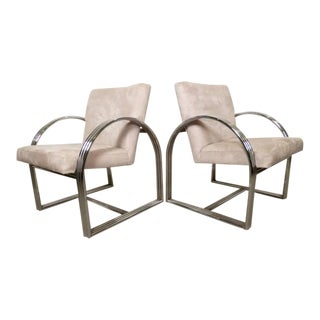 Milo Baughman for Thayer Coggin Mid-Century Armchairs For Sale