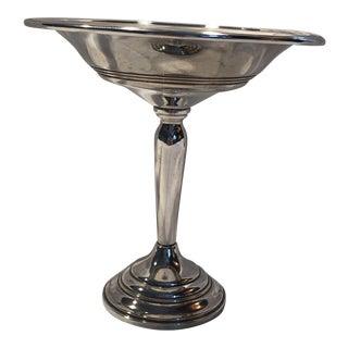 Vintage Preisner Weighted Sterling Silver #185 Pedestal Candy Dish For Sale