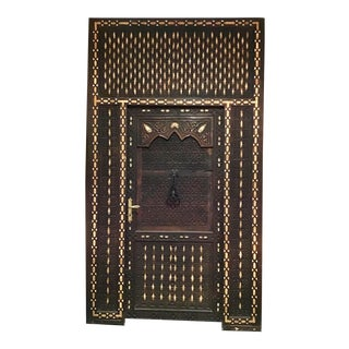 Custom Moroccan Door & Knocker For Sale
