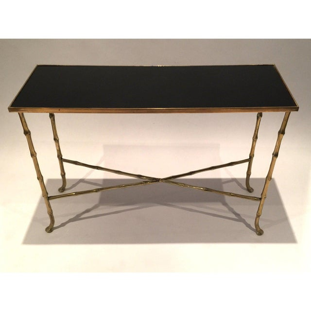 1960s Hollywood Regency Gilt Bamboo Tables - a Pair For Sale - Image 5 of 6