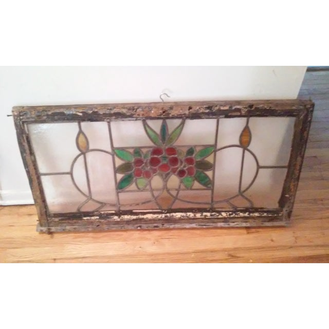 Vintage Stained Glass Window - Image 4 of 6