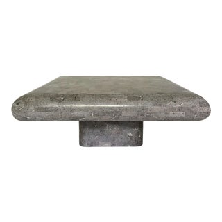 Vintage Gray Tessellated Stone Coffee Table For Sale