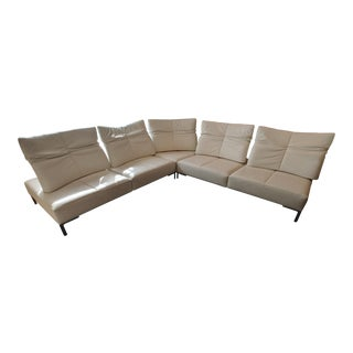 De Sede White Leather L-Shaped Sectional
