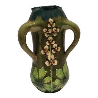 Austrian Art Nouveau Majolica Vase For Sale
