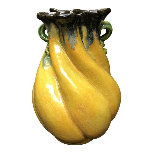 Art Nouveau Maggie and Freeman Jones Turtle Island Pottery Vase For Sale