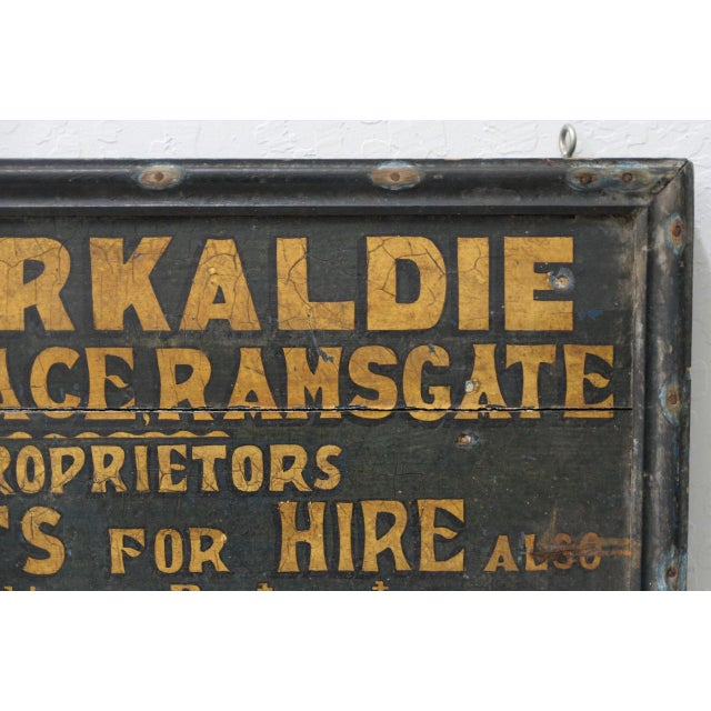 English Traditional 19th Century British Boat Proprietor Hand Painted Sign For Sale - Image 3 of 7