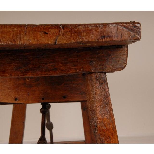 Metal Antique Renaissance Spanish Console Table For Sale - Image 7 of 12