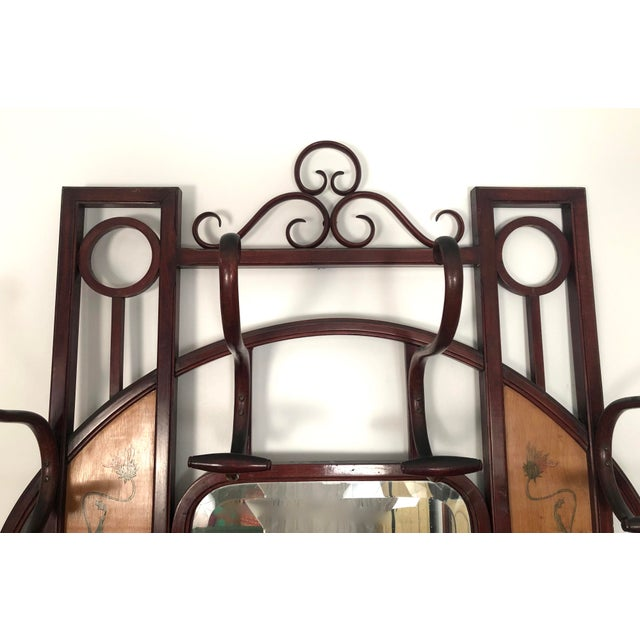 Late 19th Century Bentwood Hall Tree With Hat and Coat Rack For Sale - Image 5 of 12