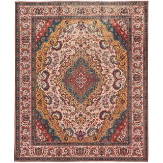"Tabriz Semi-Antique Persian Rug, 10'0"" x 11'11"" feet"