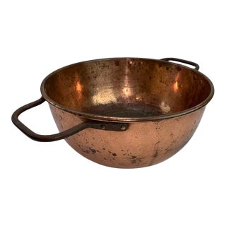 Antique Early 19th Century Copper Bowl For Sale