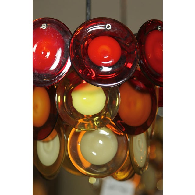 Mid-Century Modern Vostisis Murano Glass Tiered Chandelier For Sale - Image 3 of 5