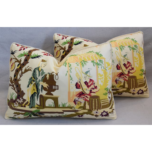 """Brunschwig Fils & Scalamandre Velvet Feather/Down Pillows 23"""" X 17"""" - Pair For Sale - Image 13 of 13"""